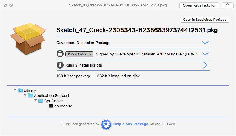 Suspicious Package (Sketch)