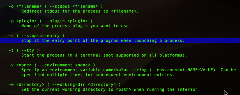 image of program entry point