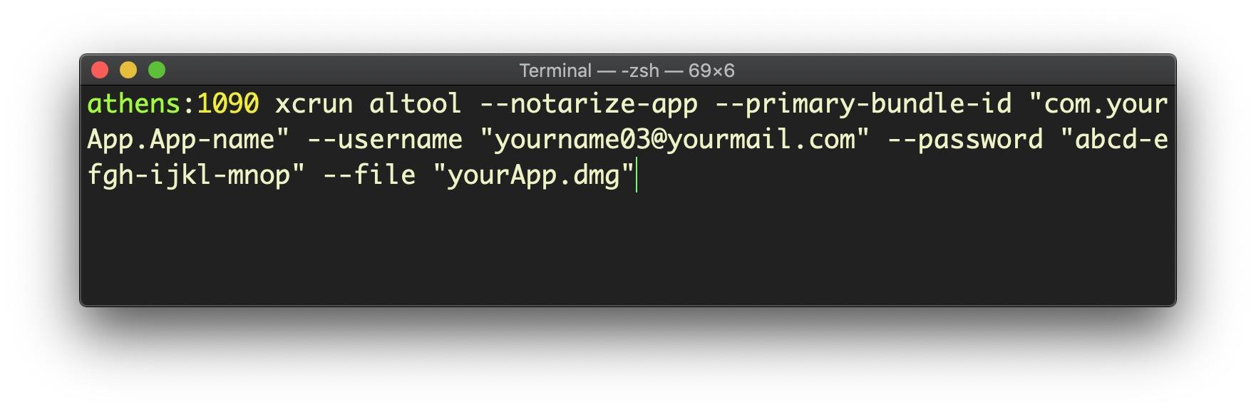image of notarizing an app