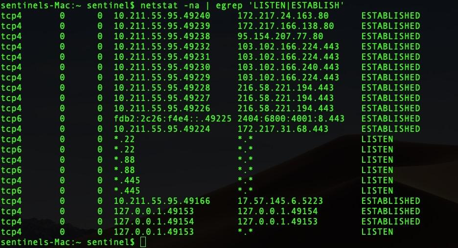 image of netstat