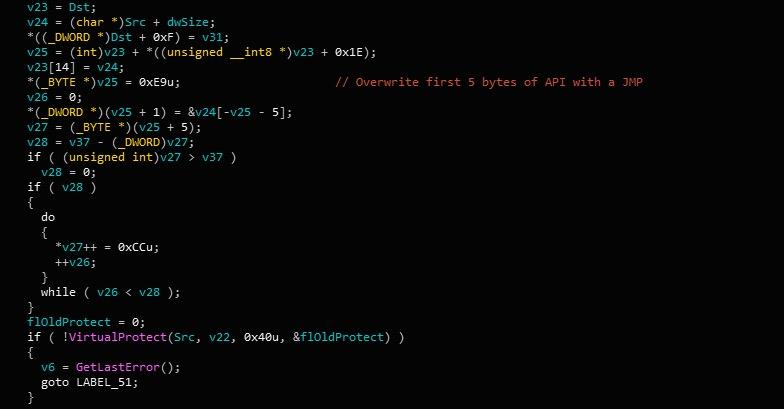image of gootkit pseudocode