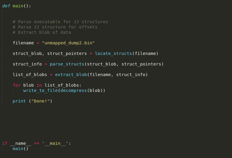 image of main python function