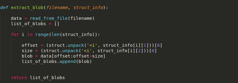image of extract blob function