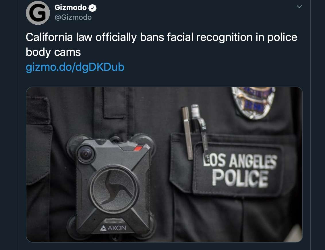image of body cams tweet