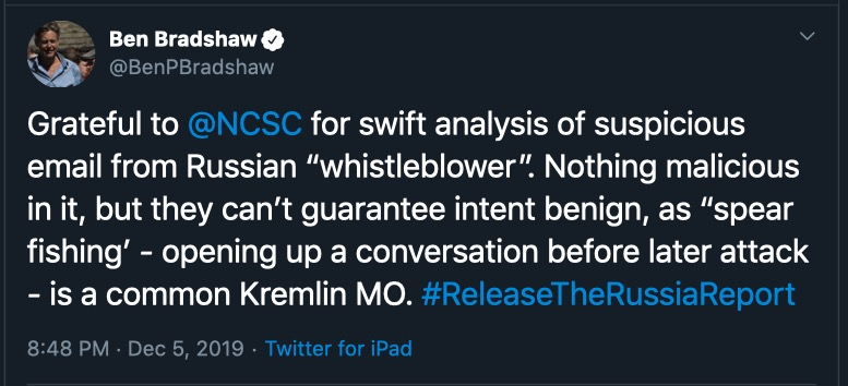 image of Ben Bradshaw tweet