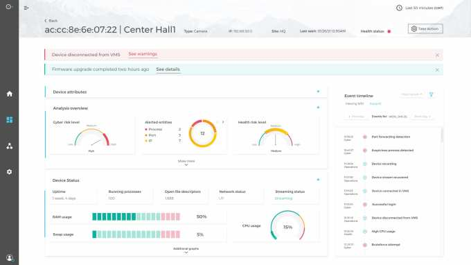 SecuriThings Horizon - Screenshot - Device view